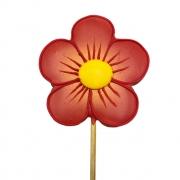 Pirulito Bolacha de Mel - Flor Vermelha G
