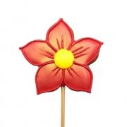 Pirulito Bolacha de Mel - Flor Vermelha M