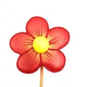Pirulito Bolacha de Mel - Flor Vermelha P