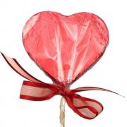Pirulito de Chocolate ao Leite - Coração
