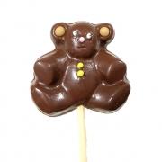 Pirulito Urso de Chocolate ao Leite