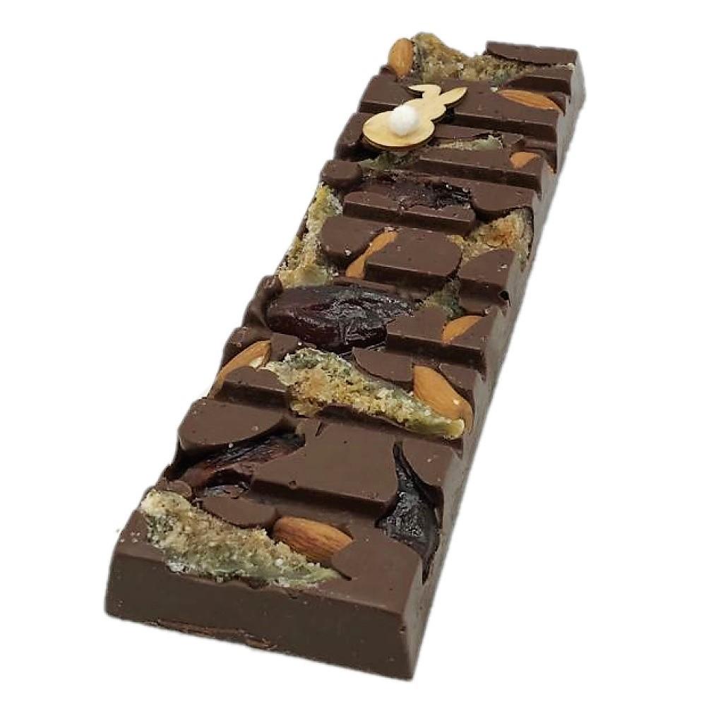 Barra de Chocolate ao Leite com Frutas Secas