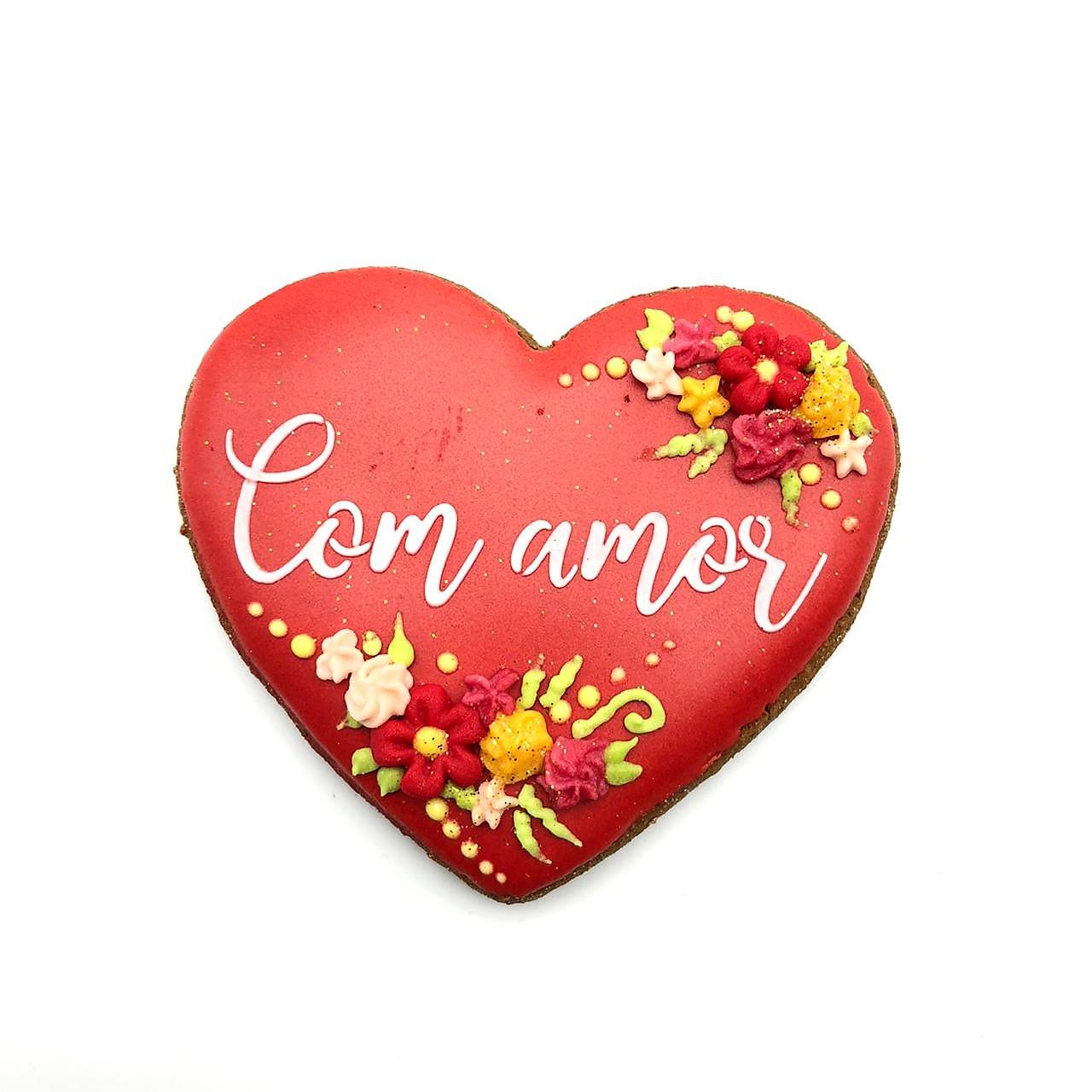 Bolacha de Mel Confeitada - Com Amor