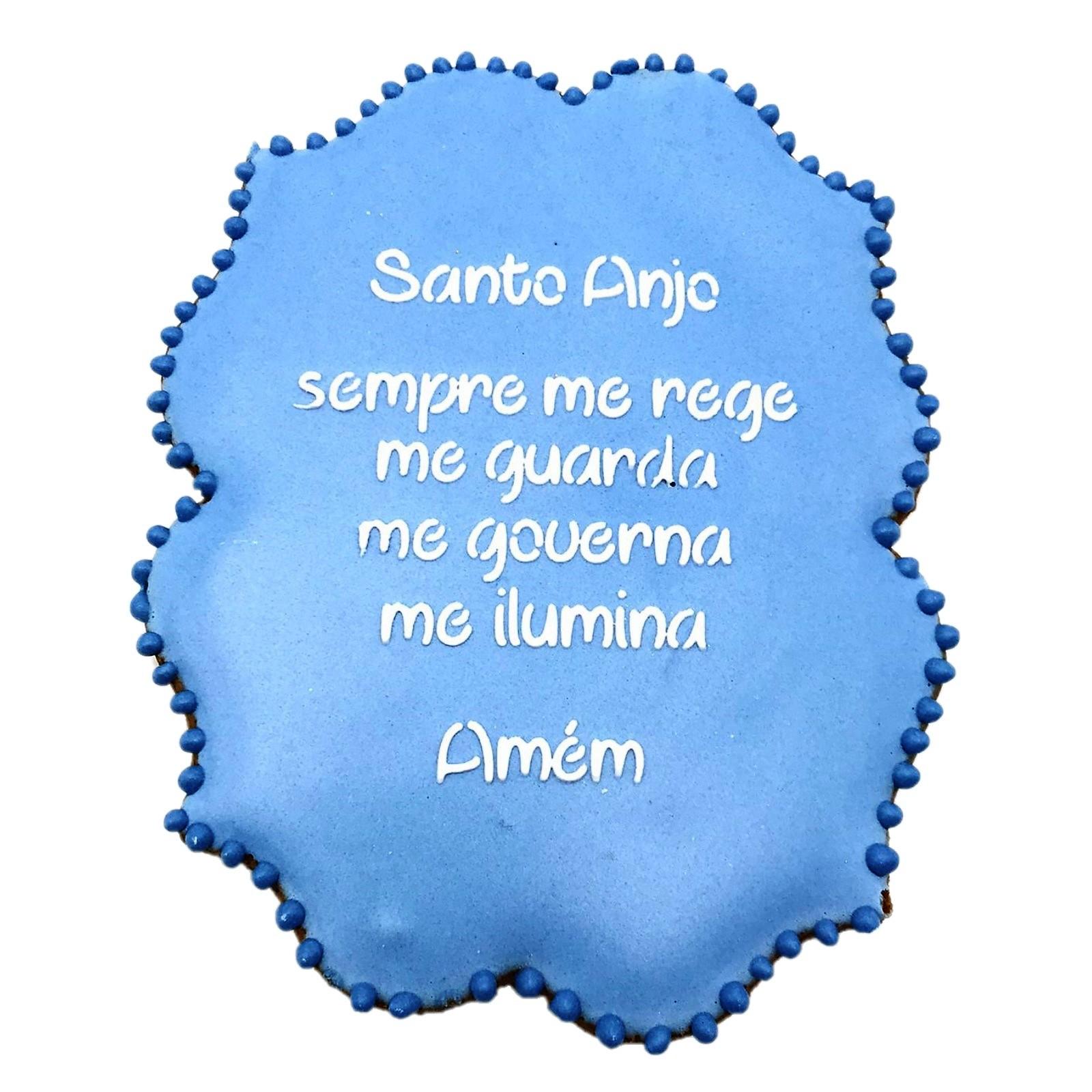 Bolacha de Mel Decorada - Santo Anjo Azul