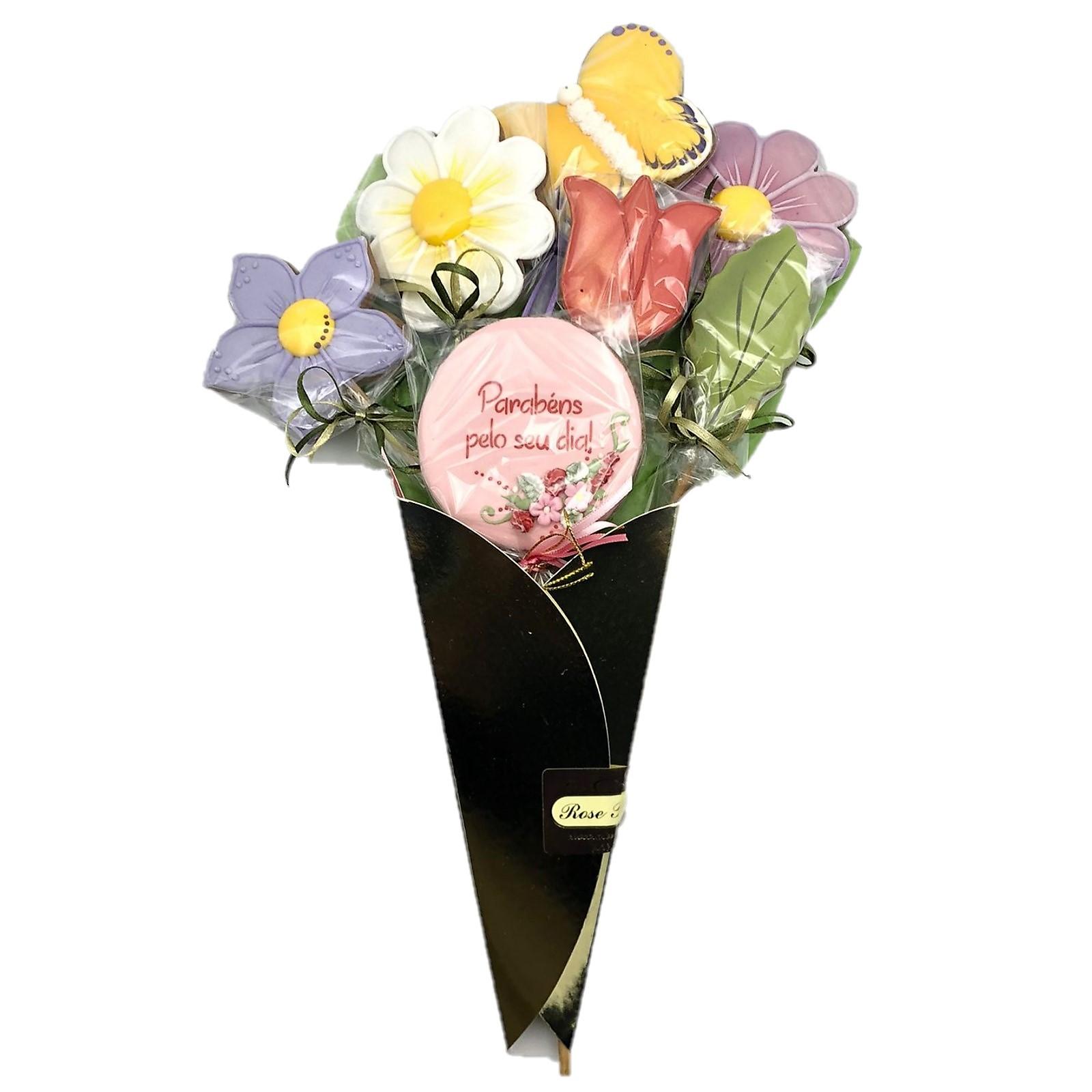 Buquê de Flores de Bolacha Confeitada