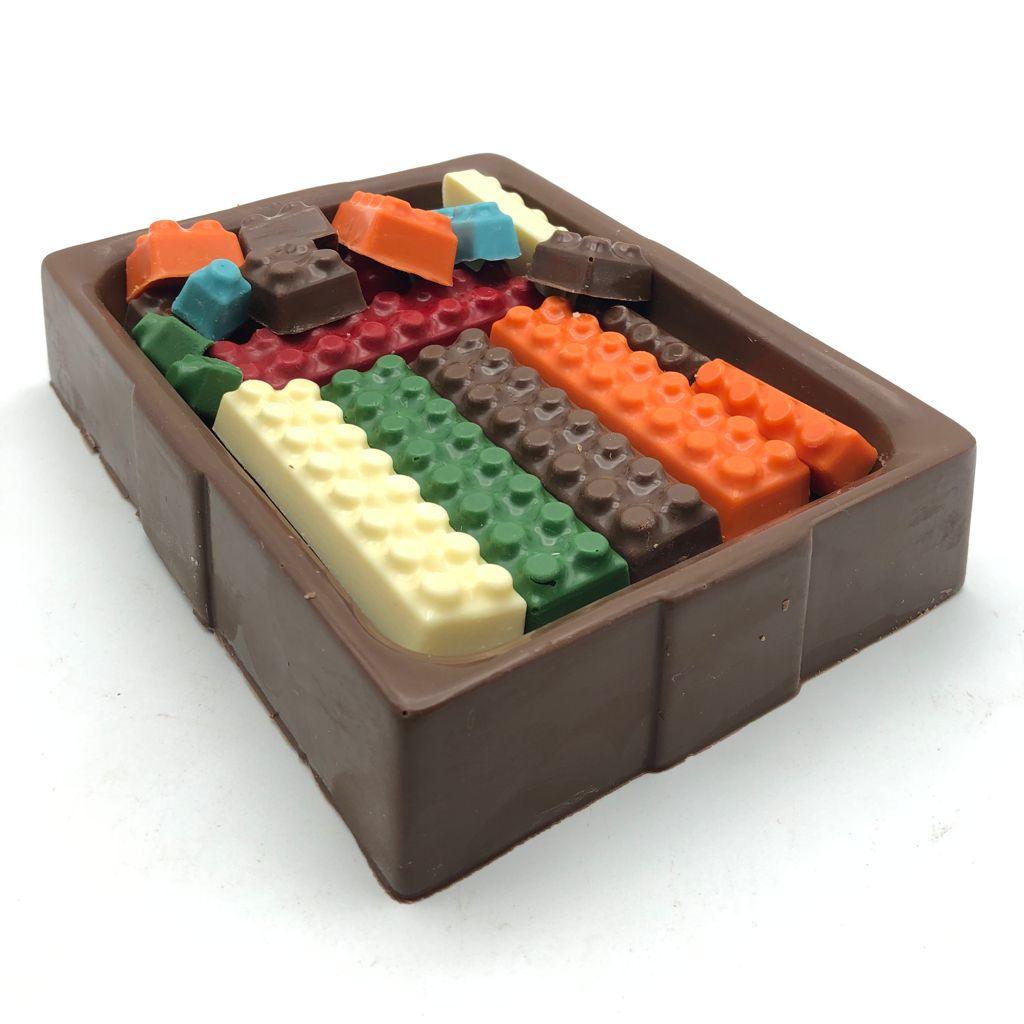 Caixa de Lego de Chocolate