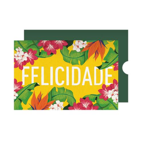 Cartão Felicidades Florido