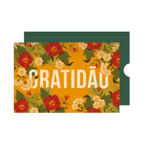 Cartão Gratidão Florido