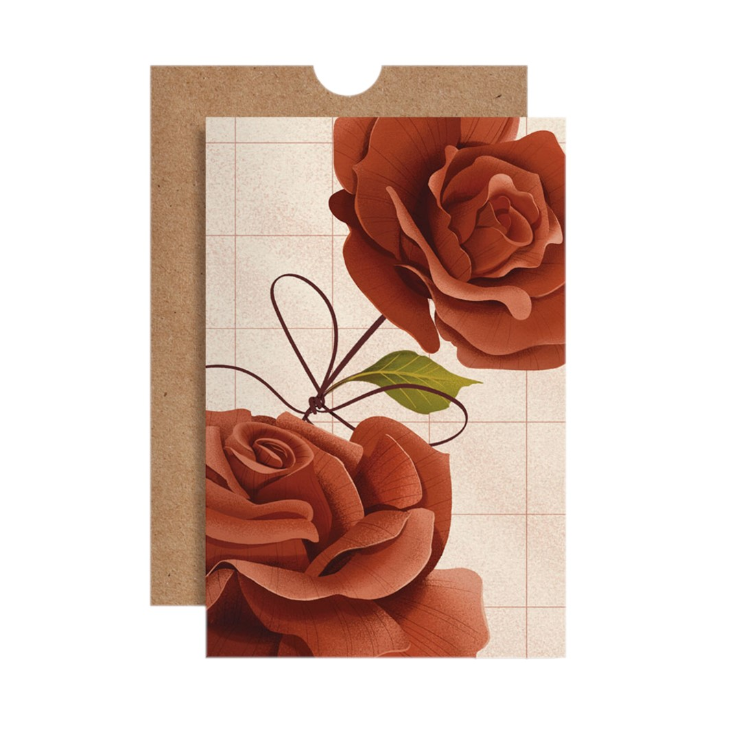 Cartão Rosas