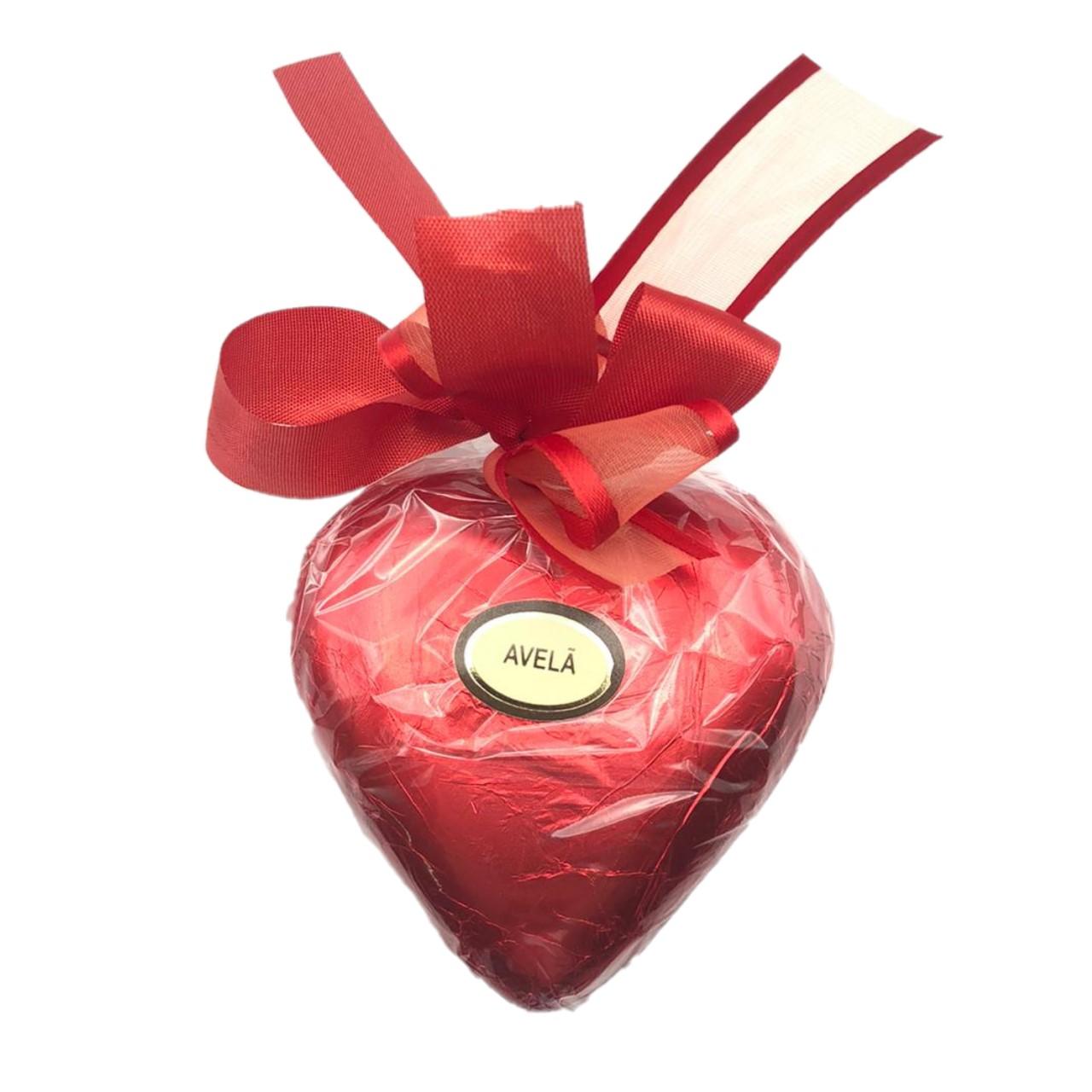 Coração Chocolate ao Leite com Avelã P