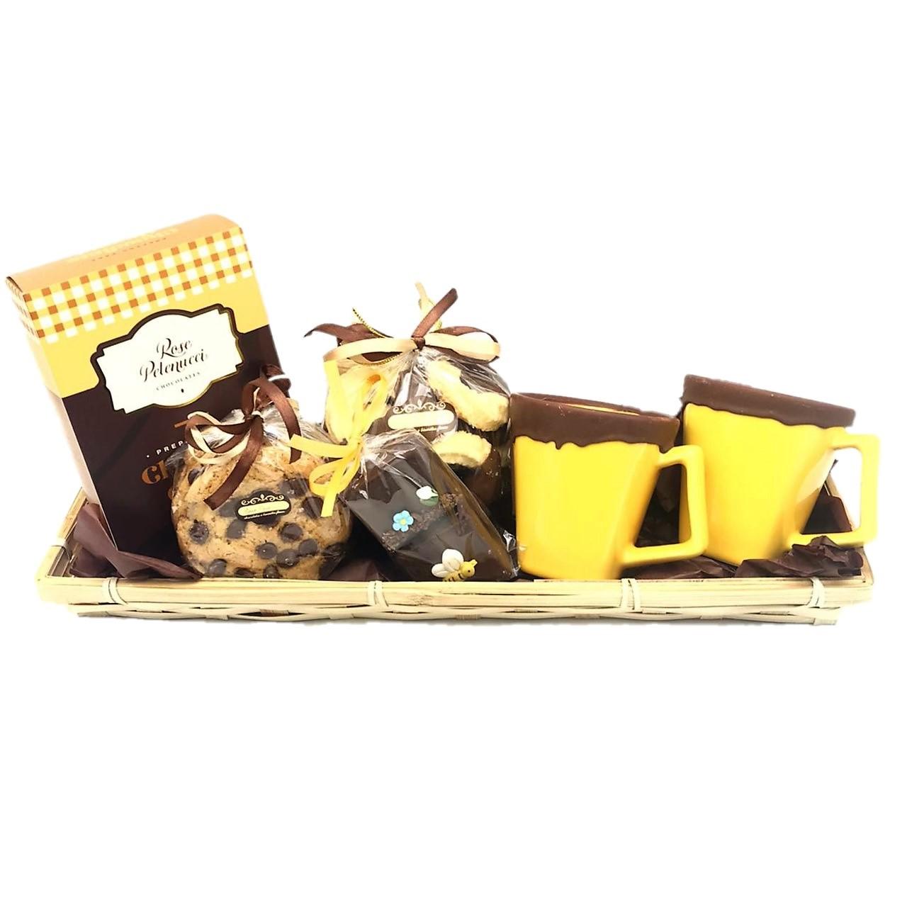Cesta Inverno Com Chocolate