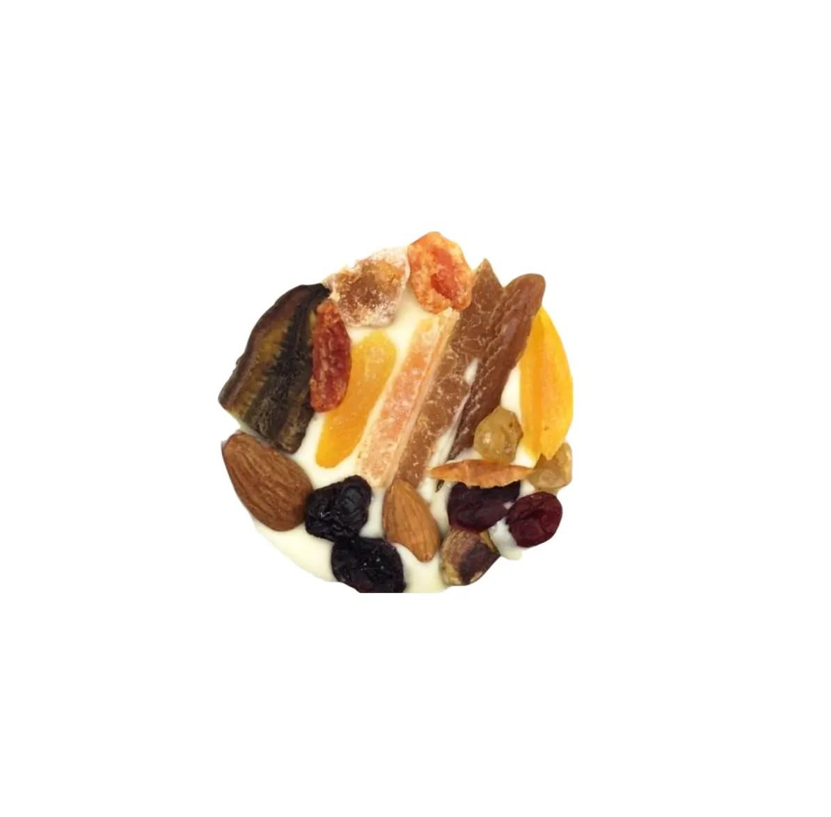 Medalhão de Frutas com Chocolate Branco