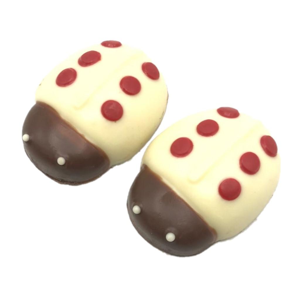 Pacote com Duas Joaninhas de Chocolate ao Leite