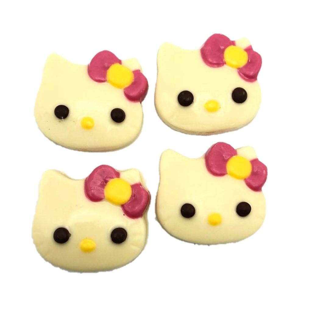 Pacote com Quatro Hello Kitty de Chocolate Branco P