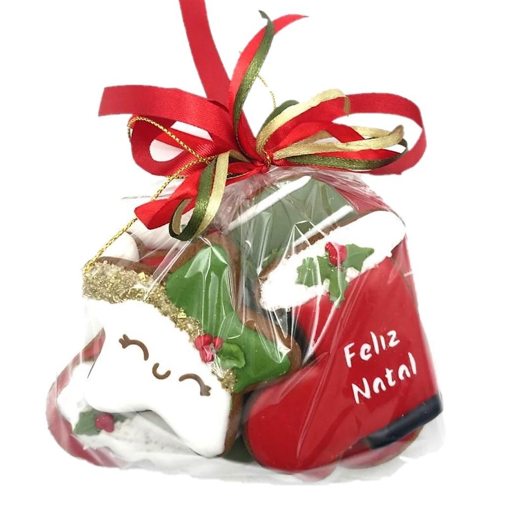 Pacote de Bolacha de Mel Decorada - Natal