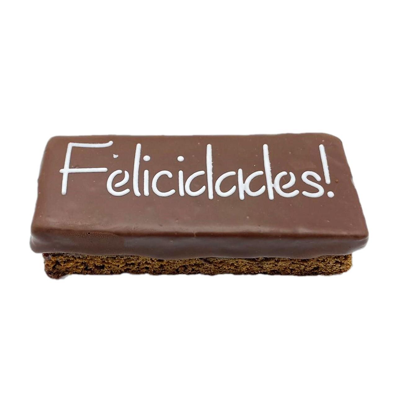 """Pão de Mel Recheado Brigadeiro  """" Felicidades """""""