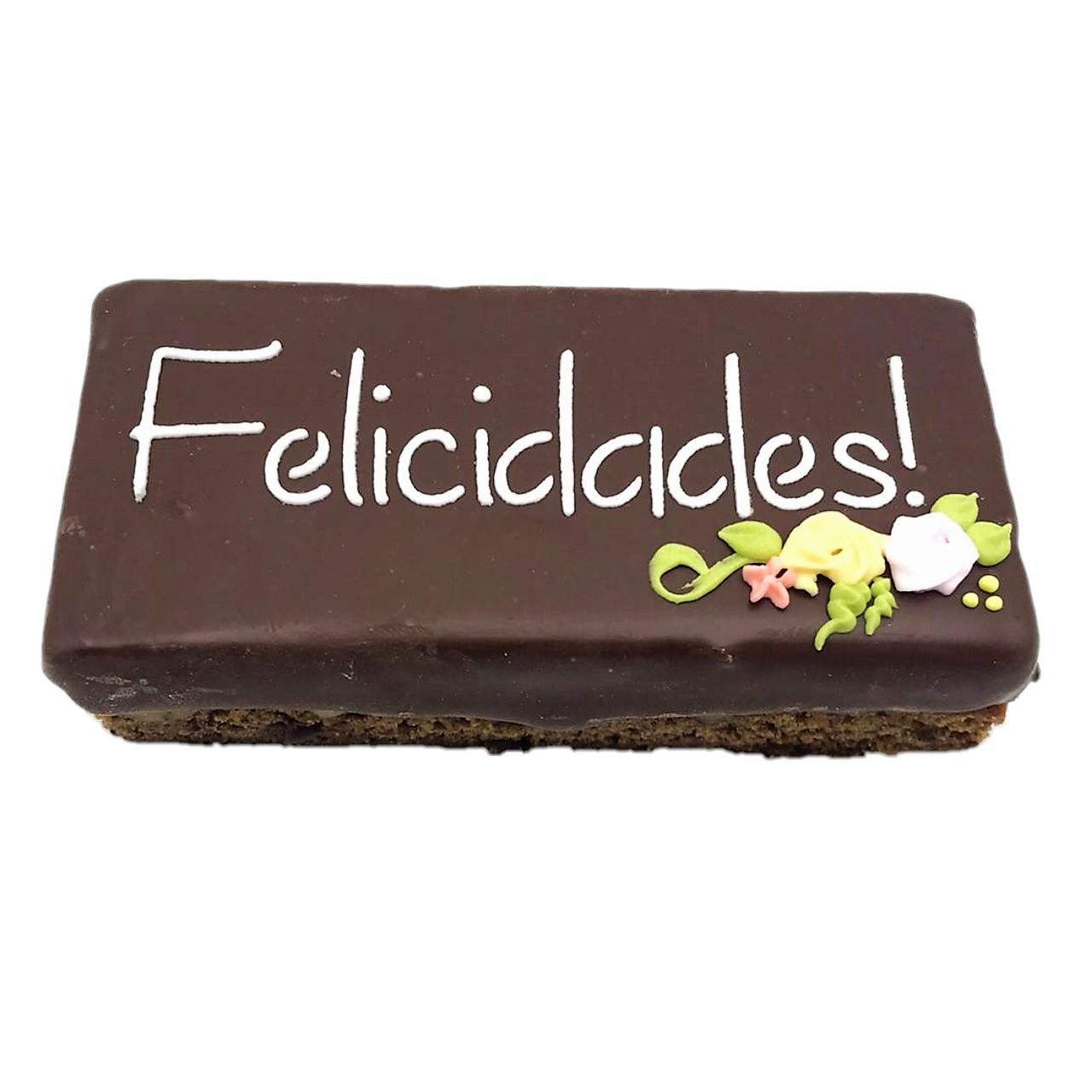 "Pão de Mel Recheado Doce de Leite  "" Felicidades """