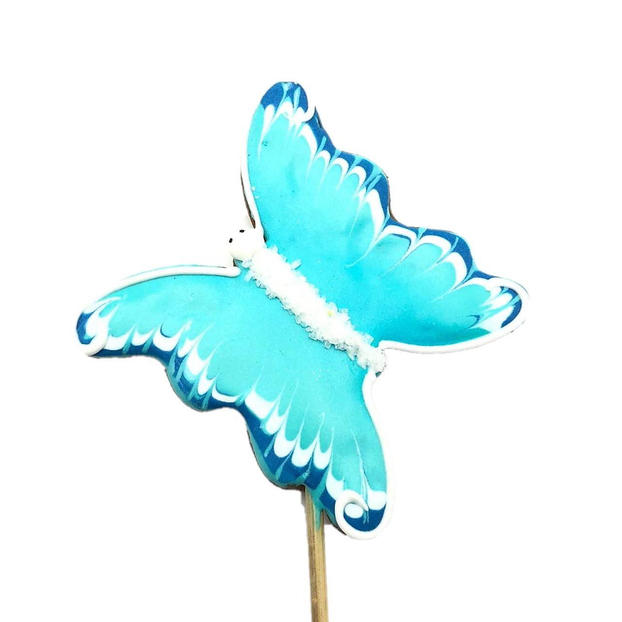 Pirulito Bolacha de Mel - Borboleta Azul