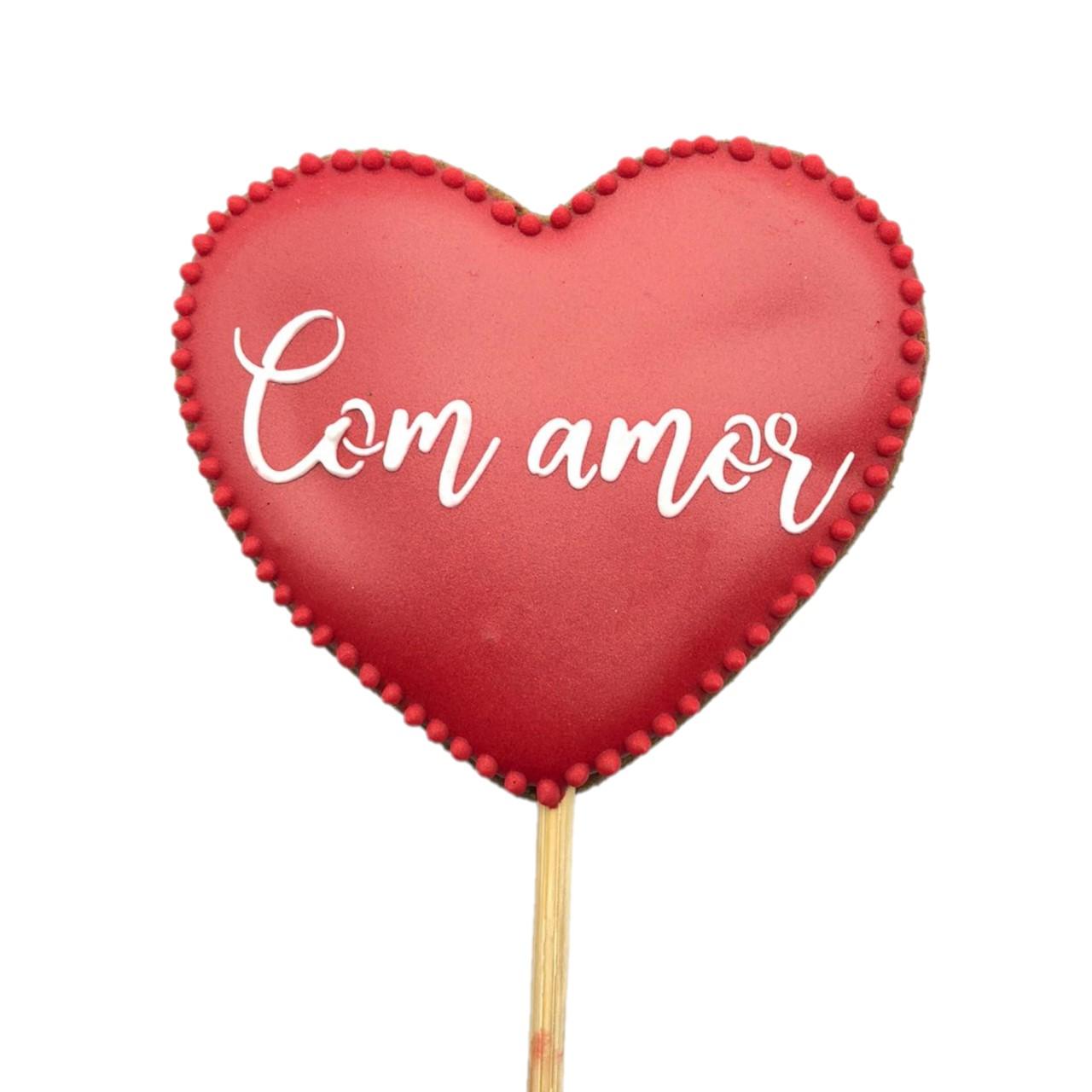 Pirulito Bolacha de Mel - Com Amor