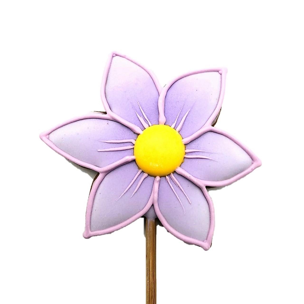Pirulito Bolacha de Mel - Flor Lilás P
