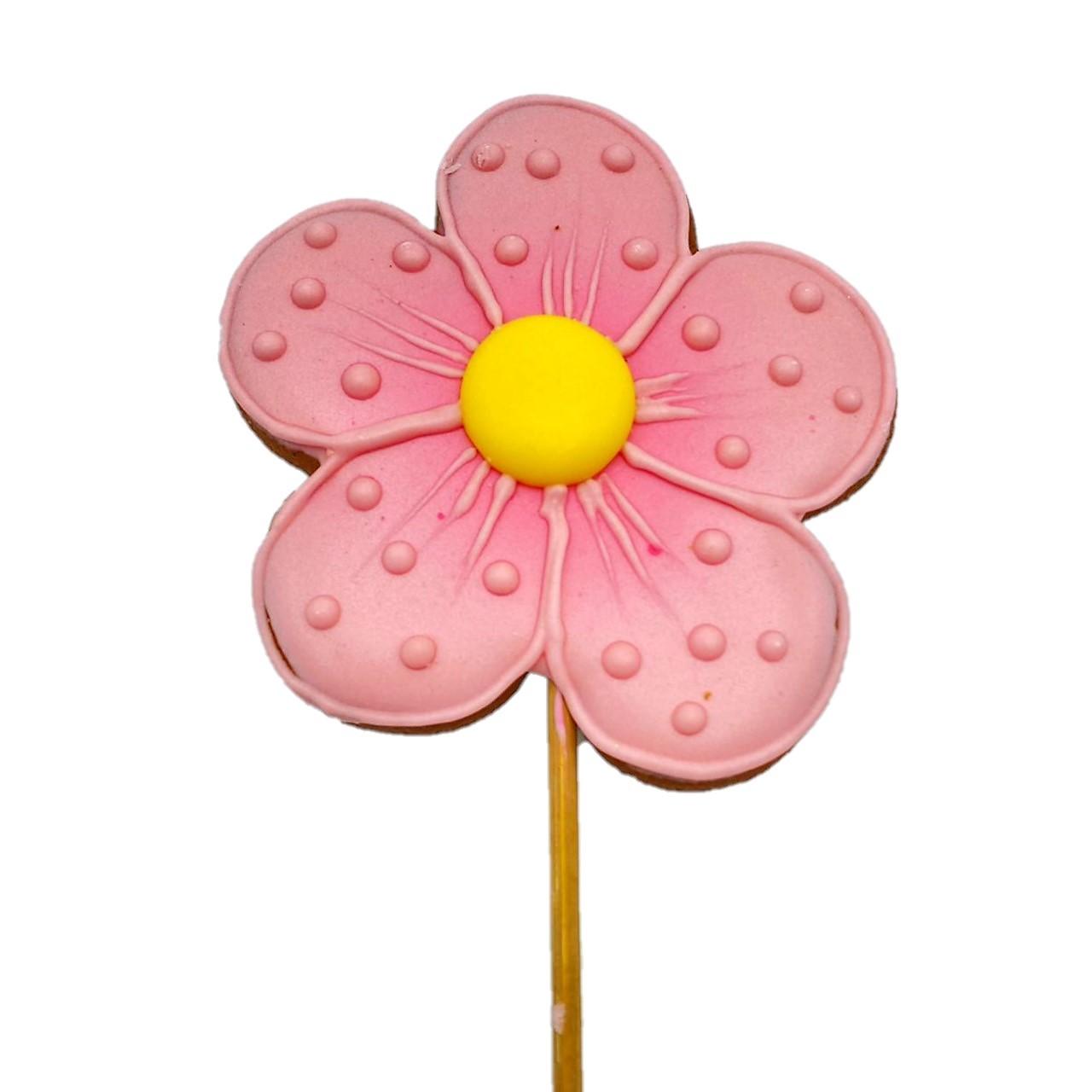 Pirulito Bolacha de Mel - Flor Rosa G