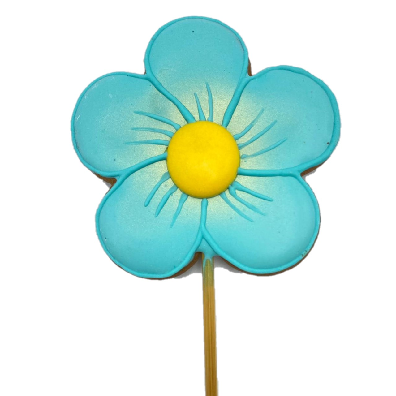 Pirulito Bolacha de Mel - Flor Azul G