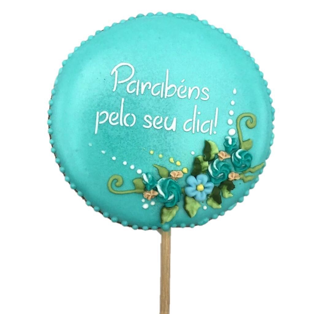 Pirulito Bolacha de Mel - Parabéns Pelo Seu Dia Azul