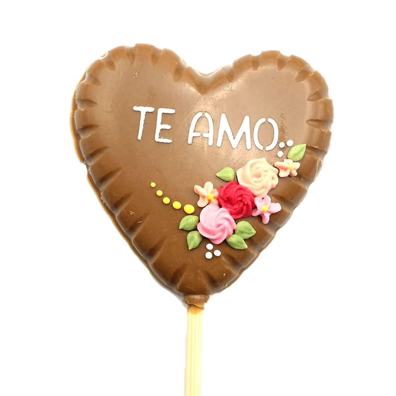 Pirulito Coração de Chocolate Gold