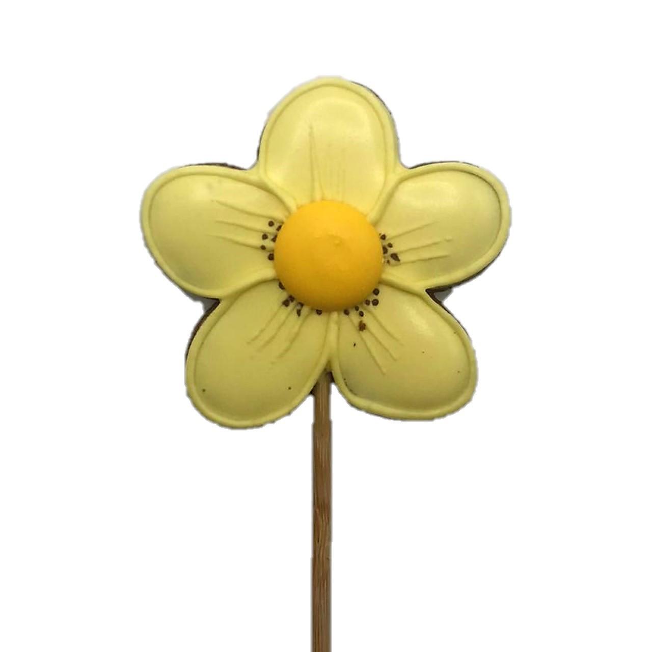 Pirulito de Bolacha de Mel Amarela Flor