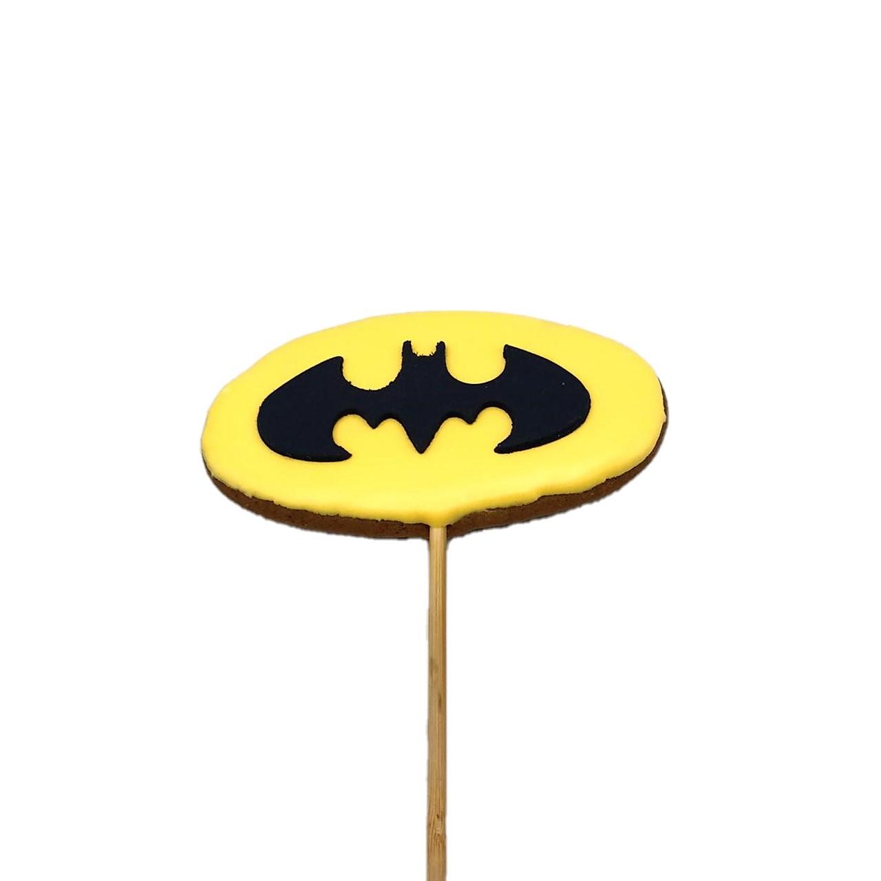 Pirulito de Bolacha de Mel Batman