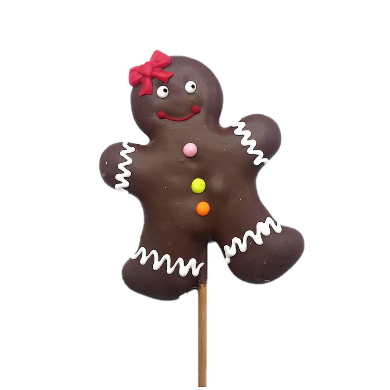 Pirulito de Bolacha de Mel Decorada - Gingerbread Menina