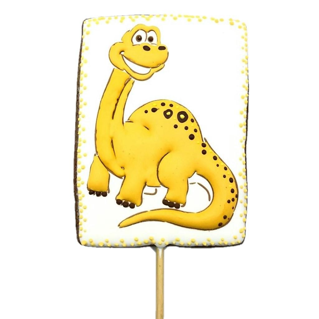 Pirulito de Bolacha de Mel - Dinossauro