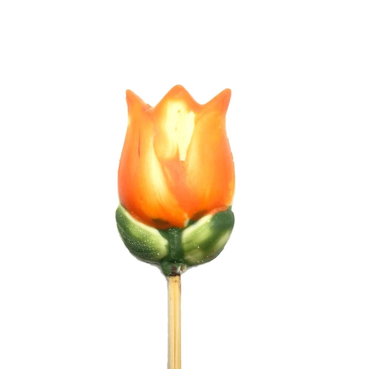 Tulipa Laranja de Chocolate ao Leite