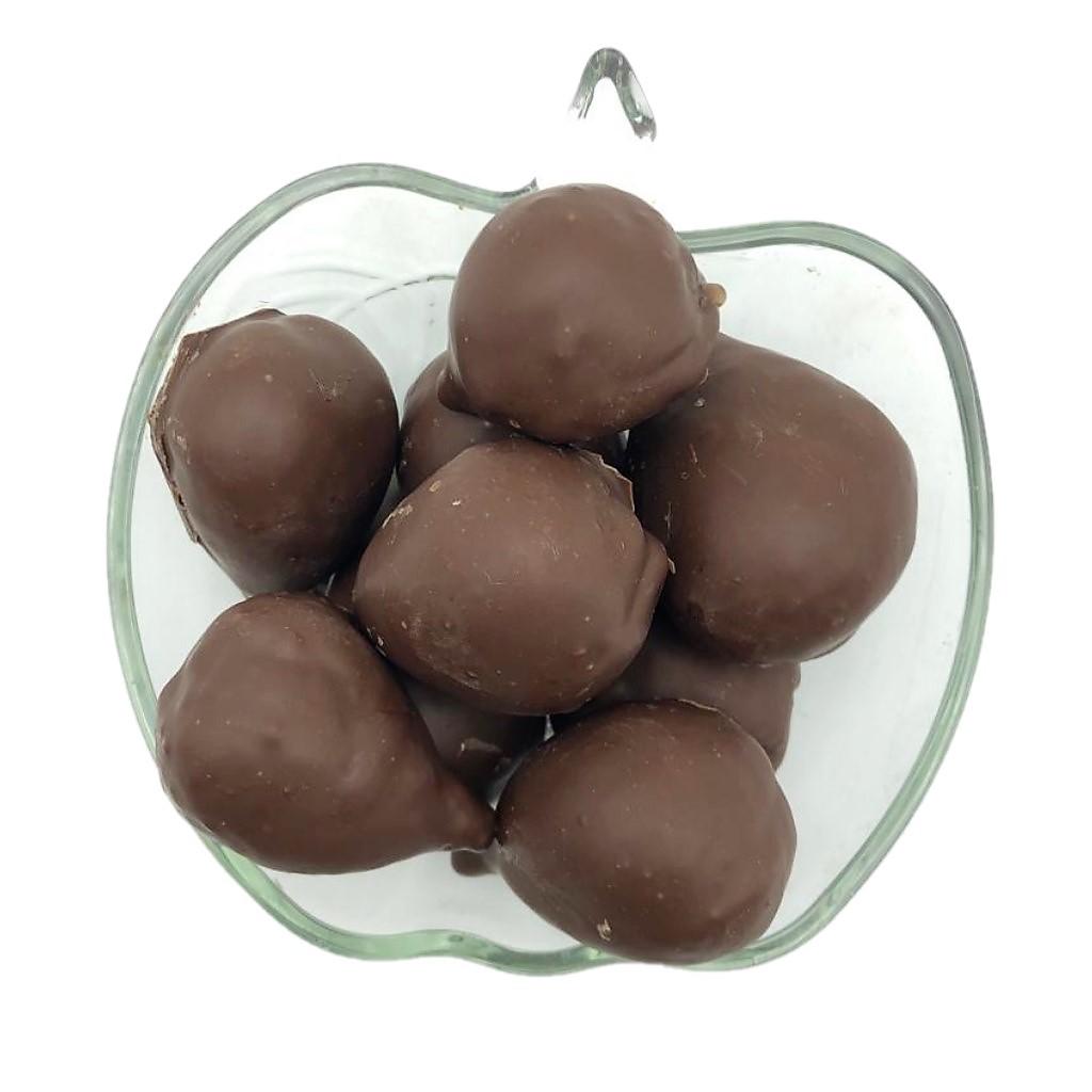 Vidro de Figo Coberto com Chocolate