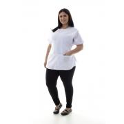 Plus Size - Kit com 2 Conjuntos de Calça Legging, Camiseta e Bata para Copeira, Arrumadeira, Faxineira, Babá