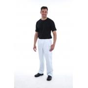 Calça Masculina em Tecido Brim com  Elástico Inteiro na Cintura.