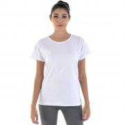 Camiseta Feminina Manga Curta 100% algodão - Branca e Preta