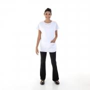 Conjunto de Calça Bailarina, Camiseta e Bata para Copeira, Arrumadeira, Faxineira, Babá