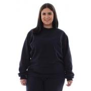 Plus Size -  Blusa de Moletom Fechado em Tecido Flanelado