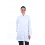 Jaleco Branco Acinturado / Guarda Pó Feminino