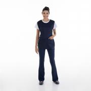 Kit com 2  Conjuntos de Calça Bailarina, Camiseta e Bata para Copeira, Arrumadeira, Faxineira, Babá