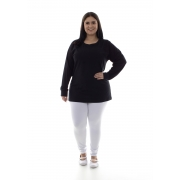 Plus Size - Calça Legging Cintura Alta em tecido Suplex
