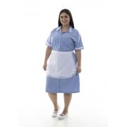 Plus Size - Kit com 2  Vestidos em Tecido Algodão Com Avental  para  Copeira, Arrumadeira, Doméstica