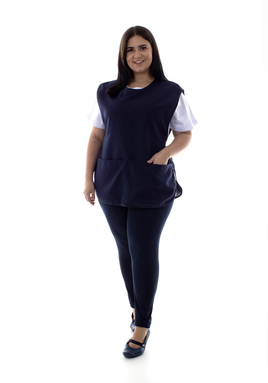 Plus Size - Kit com 2 Conjuntos de Calça Legging, Camiseta e Bata para Copeira, Arrumadeira, Faxineira, Babá  - EBT UNIFORMES