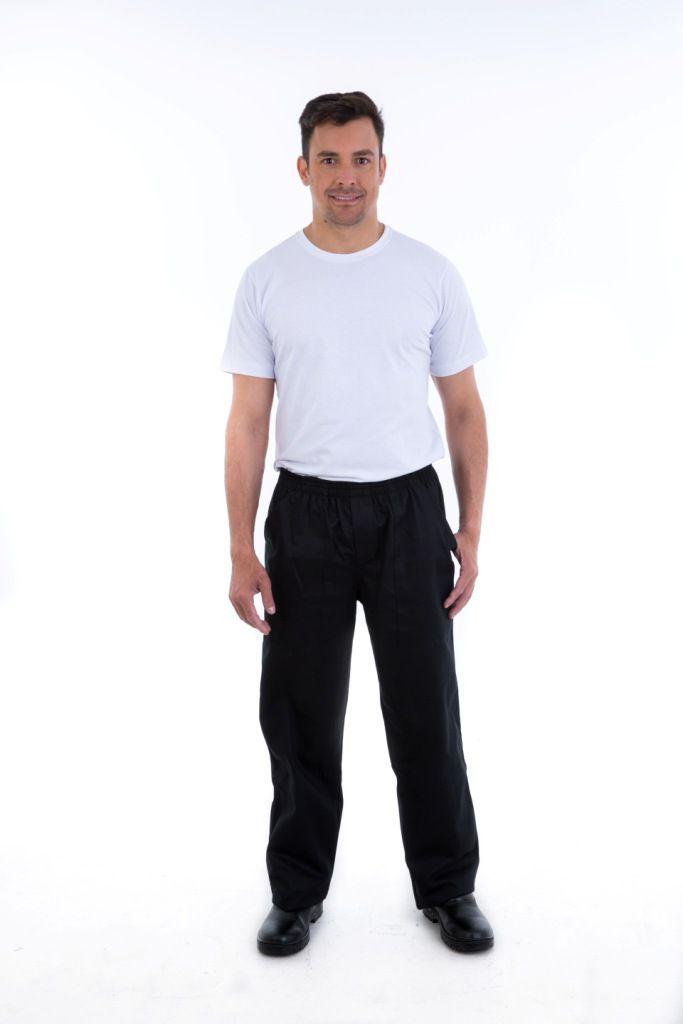 Calça Masculina em Tecido Brim com  Elástico Inteiro na Cintura.  - EBT UNIFORMES