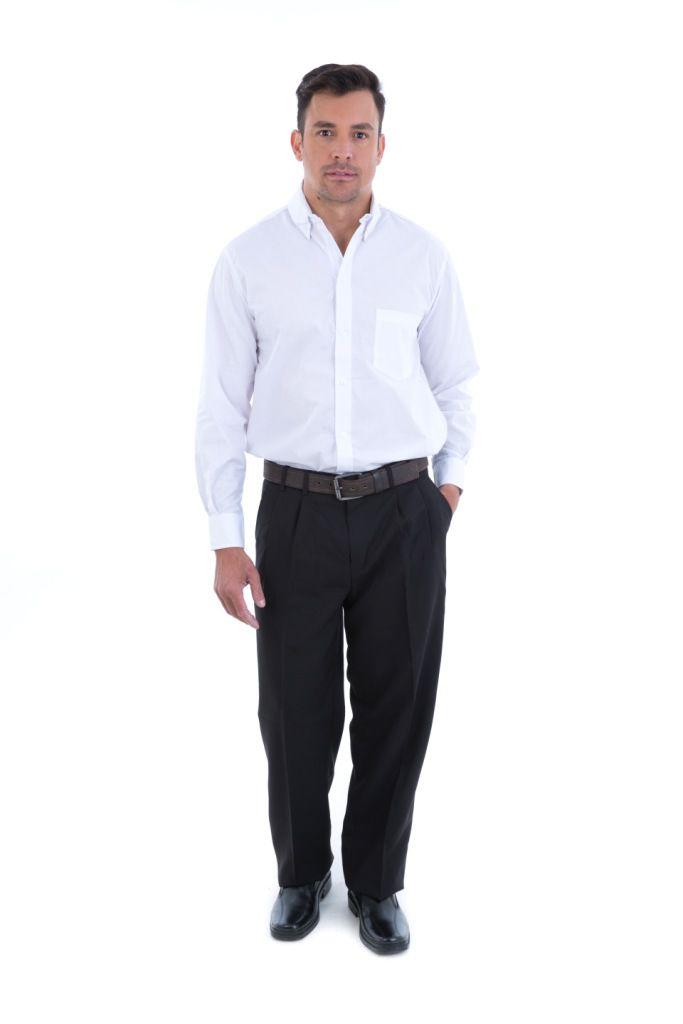 Calça Social Masculina em Tecido Oxford  - EBT UNIFORMES