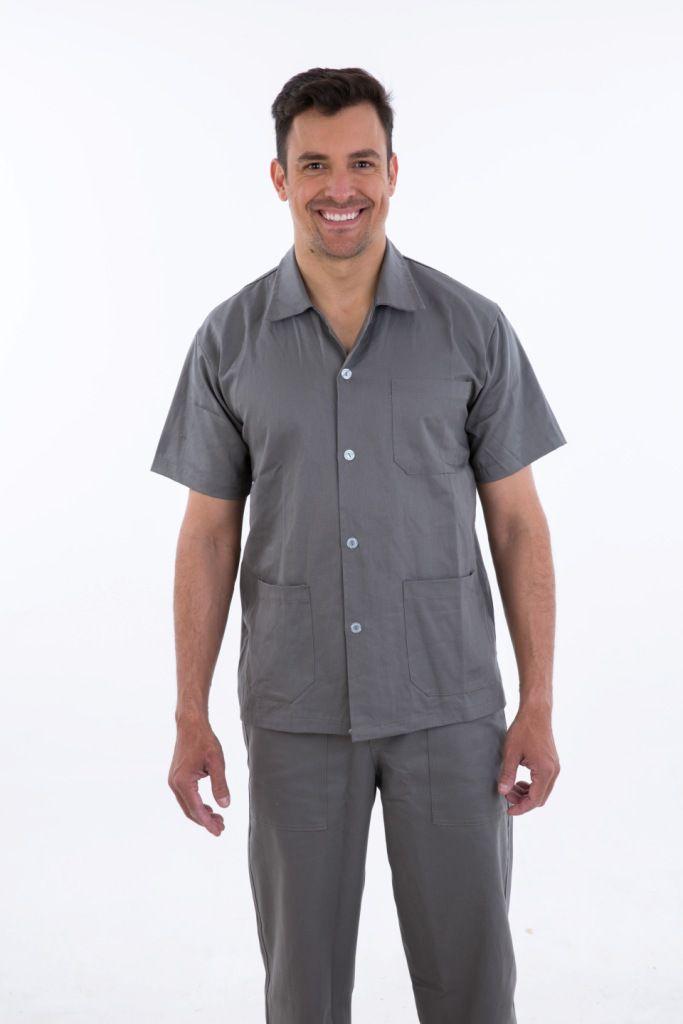 Camisa de Brim Aberta  - EBT UNIFORMES