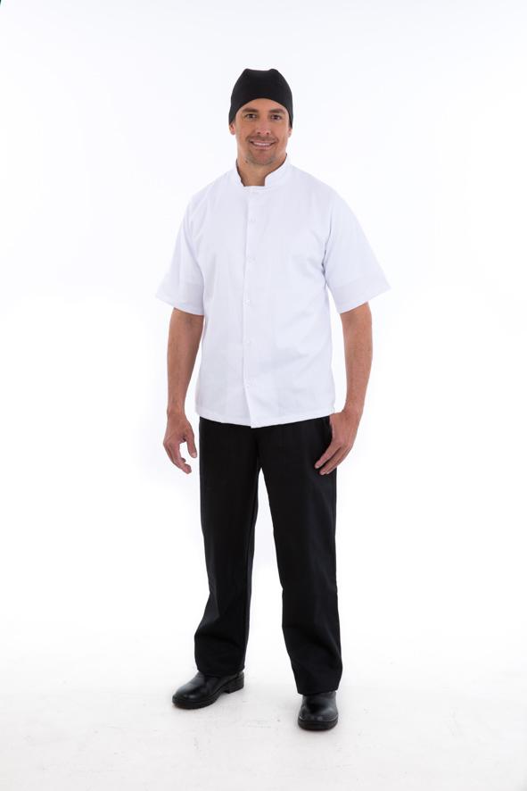 Camisa para Cozinheiro Masculina Manga Curta - Brim 100% algodão  - EBT UNIFORMES
