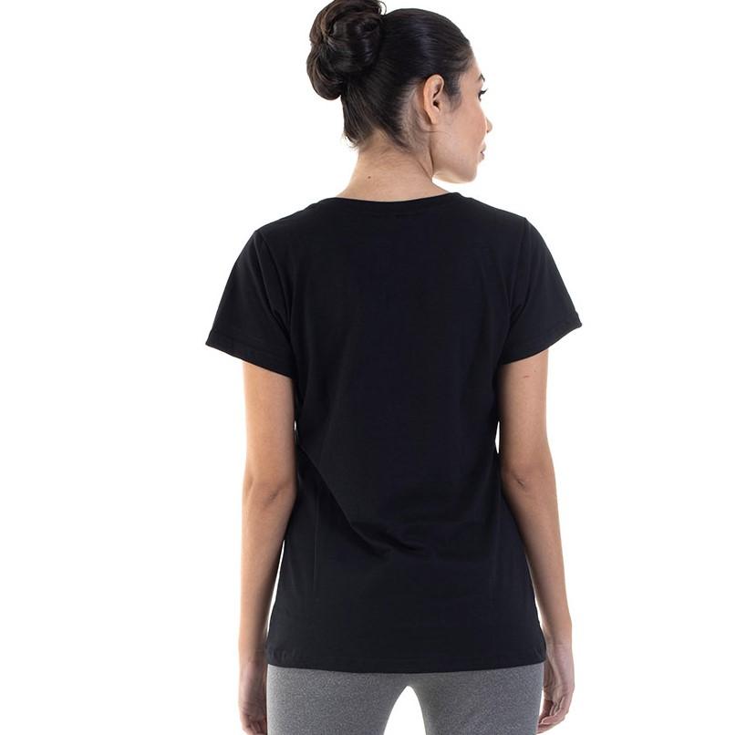 Camiseta Feminina Manga Curta 100% algodão - Branca e Preta  - EBT UNIFORMES
