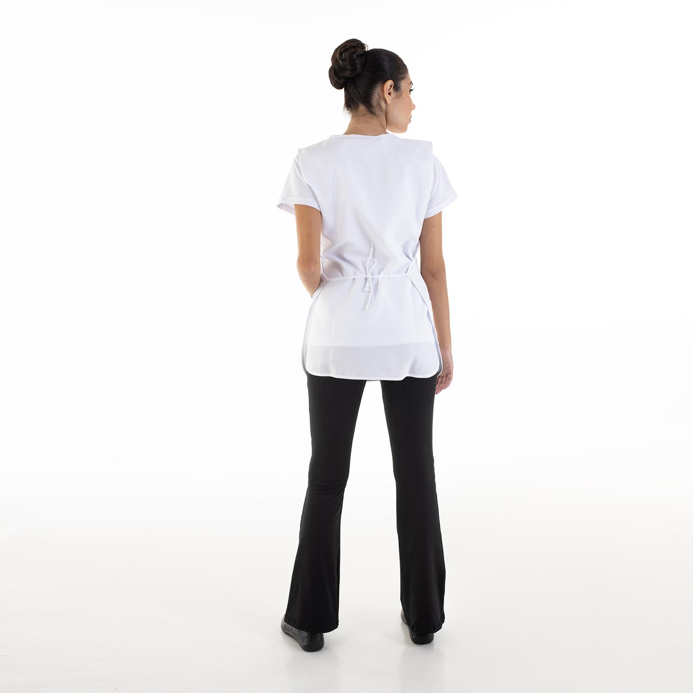 Conjunto de Calça Bailarina, Camiseta e Bata para Copeira, Arrumadeira, Faxineira, Babá  - EBT UNIFORMES